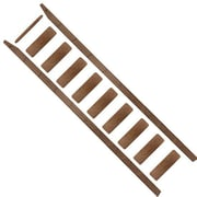 Quiet Glide 102'' Wood Rolling Ladder; Walnut