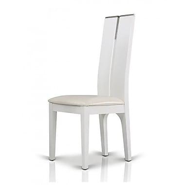 Orren Ellis Clower Wood Side Chair (Set of 2); White Gloss