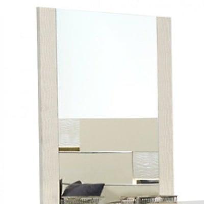 Orren Ellis Camron Contemporary Rectangular Dresser Mirror; Beige
