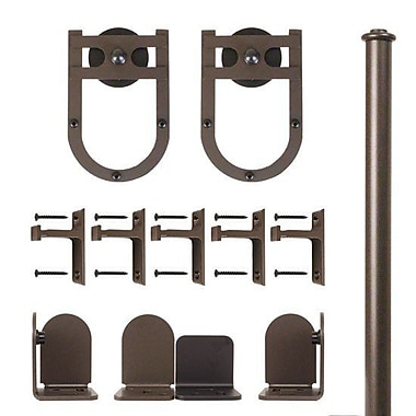 Quiet Glide Horseshoe Barn Door Hardware Kit; Oil Rubbed Bronze