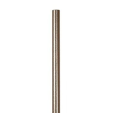 Quiet Glide 48'' Round Rail; Hammered Antique Brass