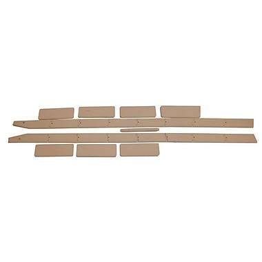 Quiet Glide 96'' Wood Rolling ladder; Cherry