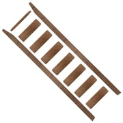 Quiet Glide 96'' Wood Rolling ladder; Walnut