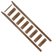 Quiet Glide 108'' Wood Rolling Ladder; Walnut