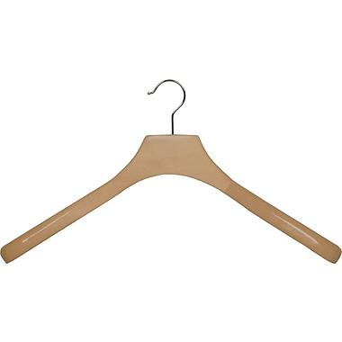 Rebrilliant Wooden Coat Hanger w/ Swivel Hook (Set of 6); Natural/Chrome