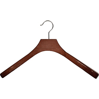 Rebrilliant Wooden Coat Hanger w/ Swivel Hook (Set of 6); Walnut/Chrome
