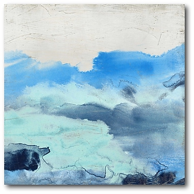 Varick Gallery 'Water Color Blue' Print on Canvas; 30'' H x 30'' W