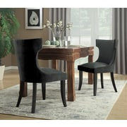 Rosdorf Park Maire Upholstered Dining Chair; Charcoal/Gray