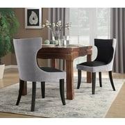 Rosdorf Park Maire Upholstered Dining Chair; Gray/Black