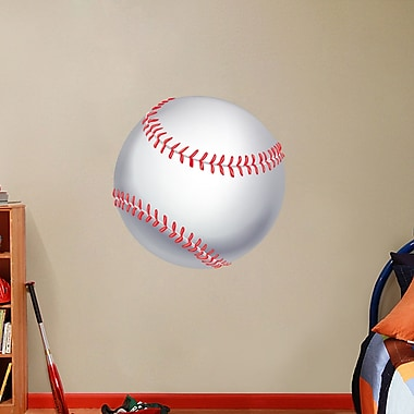 SweetumsWallDecals Printed Baseball Wall Decal; 30'' H X 30'' W