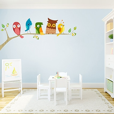 SweetumsWallDecals Printed Birds on a Limb Wall Decal; 60'' H x 28'' W
