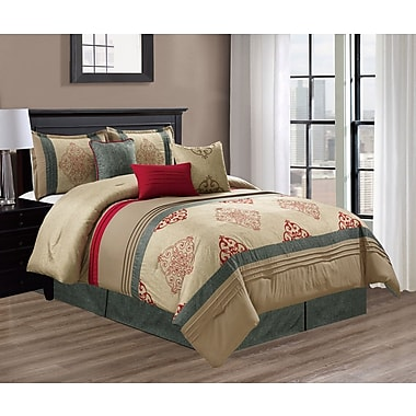 Red Barrel Studio Swigert Embroidery 7 Piece Comforter Set; King