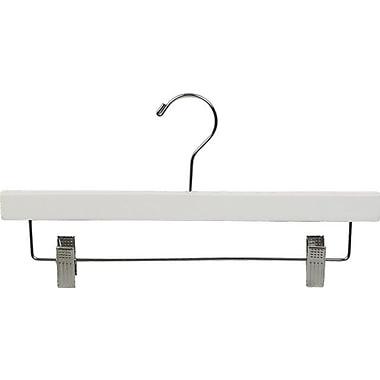Rebrilliant Pant Hanger w/ Adjustable Cushion Clips (Set of 50); White/Chrome