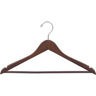 Rebrilliant Suit Non-Slip Hanger w/ Solid Bar (Set of 50); Walnut