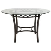 Fleur De Lis Living Cafferata Traditional Steel Base Dining Table
