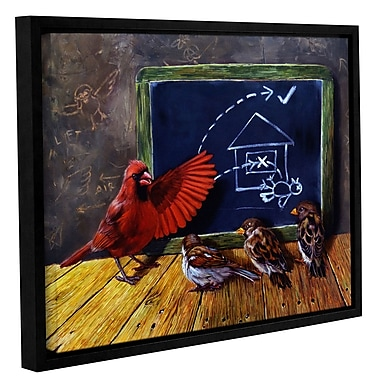 Zoomie Kids 'Flight School' Framed Graphic Art Print on Canvas; 24'' H x 32'' W x 2'' D