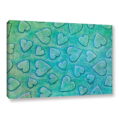 Zoomie Kids 'Single Heart' Graphic Art on Wrapped Canvas in Mint; 16'' H x 24'' W x 2'' D