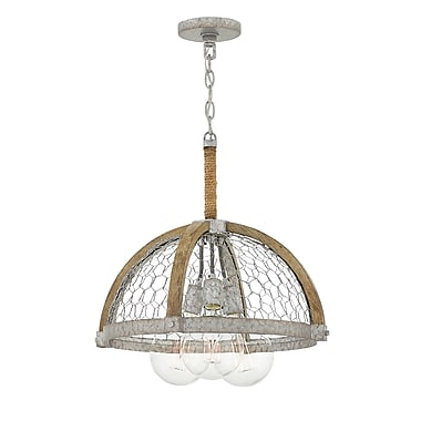 Union Rustic Hudson 3-Light Mini Chandelier