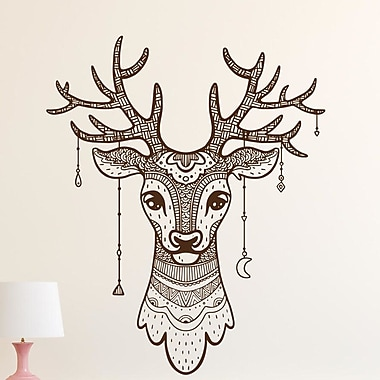 Decal House Deer Antler Wall Decal; Red
