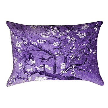 Bloomsbury Market Lei Almond Blossom Rectangular 100pct Cotton Pillow Cover; Purple