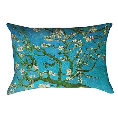 Bloomsbury Market Lei Almond Blossom Lumbar Pillow; Blue/Green