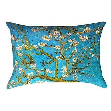 Bloomsbury Market Lei Almond Blossom Rectangular Pillow Cover; Blue/Yellow