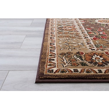 Darby Home Co Baylen Bohemian Flora Brown Area Rug