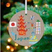 Oopsy Daisy Personalized Wander the World Japan Hanging Ornament