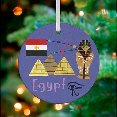 Oopsy Daisy Personalized Wander the World Egypt Hanging Ornament