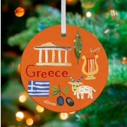 Oopsy Daisy Personalized Wander the World Greece Hanging Ornament