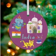 Oopsy Daisy Personalized Wander the World India Hanging Ornament