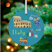 Oopsy Daisy Personalized Wander the World Italy Hanging Ornament