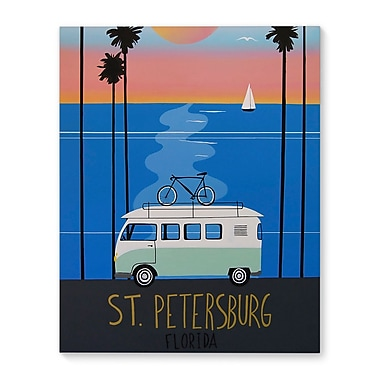 Varick Gallery 'St. Pete Poster' Graphic Art Print on Canvas