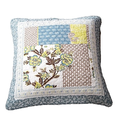 August Grove Crissay Quilted 100pct Cotton Euro Pillow Cover