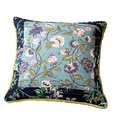 August Grove Roquefort Tropical Calla Lily Patchwork Quilted 100pct Cotton Pillow Cover (Set of 2)