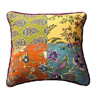 August Grove Roquefort Carnival Garden Patchwork 100pct Cotton Pillow Cover (Set of 2)