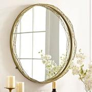 Everly Quinn Faulkner Round Wire Nest Frame Accent Mirror