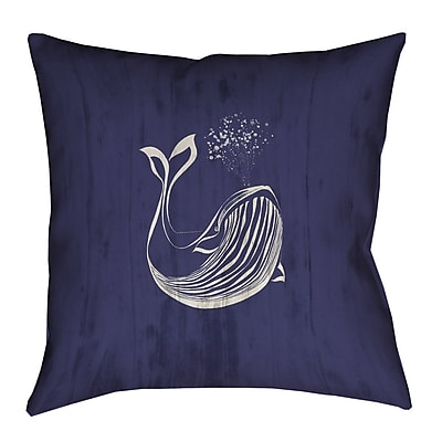 Longshore Tides Lauryn Whale Throw Pillow w/ Concealed Zipper; 20'' x 20''