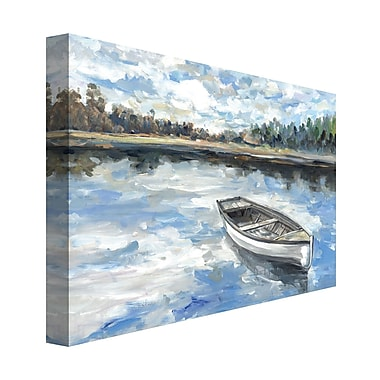 Loon Peak 'Morning Lake' Print on Wrapped Canvas; 30'' H x 40'' W