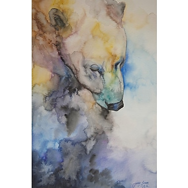 Loon Peak 'Meditation II' Watercolor Painting Print on Wrapped Canvas; 36'' H x 24'' W