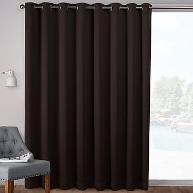 Orren Ellis Campanella Sateen Blackout Solid Grommet Top Wide Patio Curtain Panel (Set of 2)