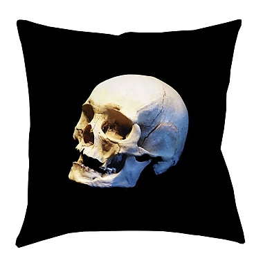 Brayden Studio Mensa Skull Double Sided Print Throw Pillow; 18'' x 18''
