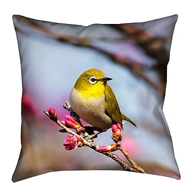 Latitude Run Holston Bird Faux Suede Throw Pillow; 26'' x 26''