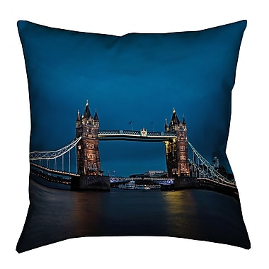 Latitude Run Holter Tower Bridge Spun Polyester Pillow Cover; 20'' x 20''