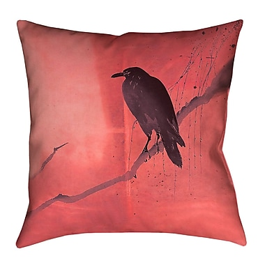 Latitude Run Hansard Crow and Willow Outdoor Throw Pillow w/ Zipper; 16'' x 16''