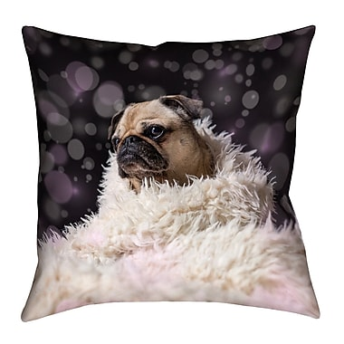Latitude Run Hansard Fancy Pug Square Floor Pillow; 40'' x 40''