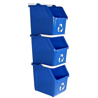 Busch Systems Mobius Loop 6 Gallon Recycling Bin (Set of 22); Blue