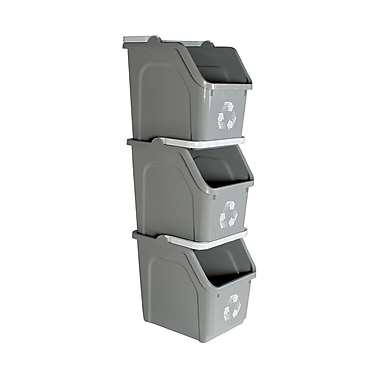 Busch Systems Mobius Loop 6 Gallon Recycling Bin (Set of 22); Gray