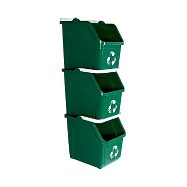 Busch Systems Mobius Loop 6 Gallon Recycling Bin (Set of 22); Green