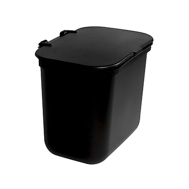 Busch Systems Solid Lift Hanging Waste Basket; Black